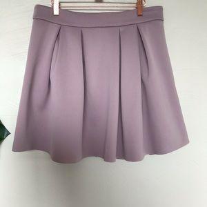 ASOS Scuba Pleated Lavender Mini Skirt